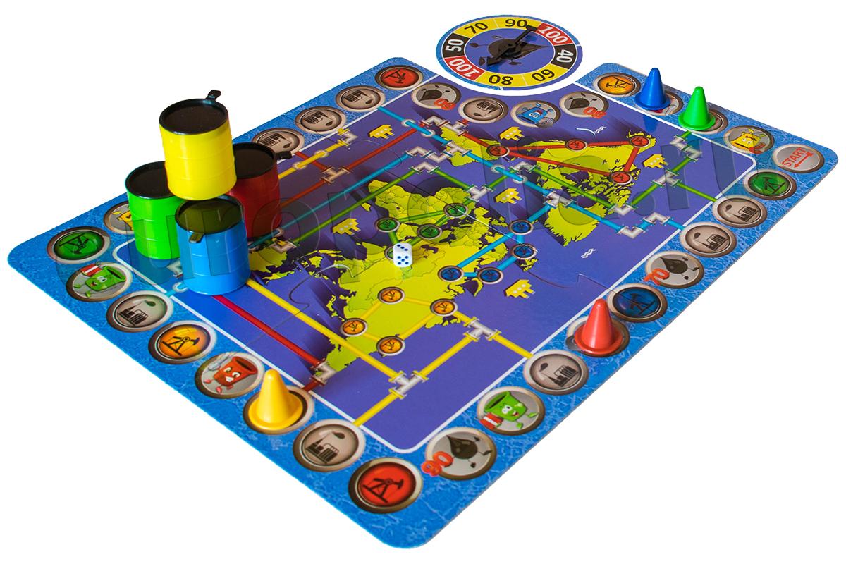 Экономическая игра Баррель поле и фишки с бочками 43536 L-152